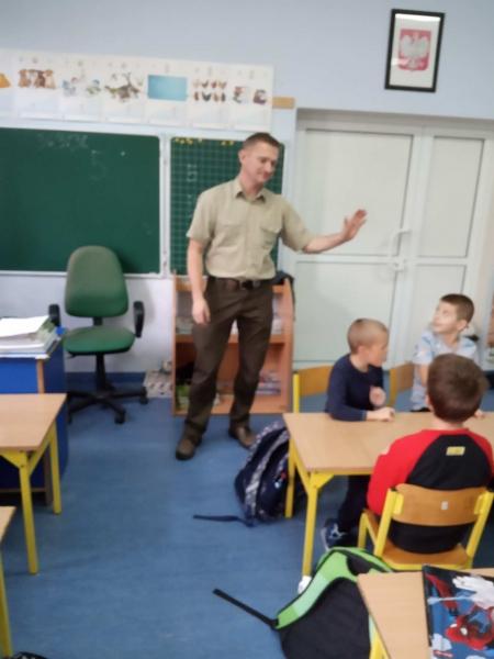 Spotkanie z leśniczym panem Kołodziejem